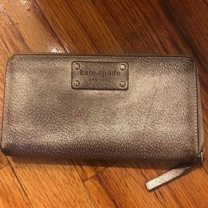 Kate Spade Gold Continental Wallet